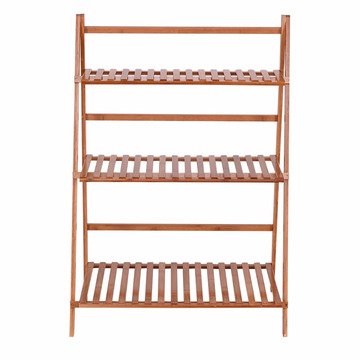 china factory three tier customized wooden bamboo flower plant pot stand/shelf/rack prices