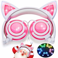 Wholesale Most Popular Glowing Cat Ear Headphones
