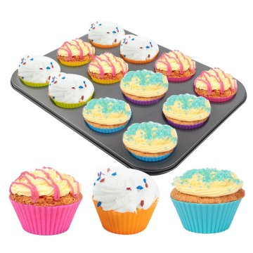 Eco-friendly Silicone Cupcake Mold Muffin Cup Pan