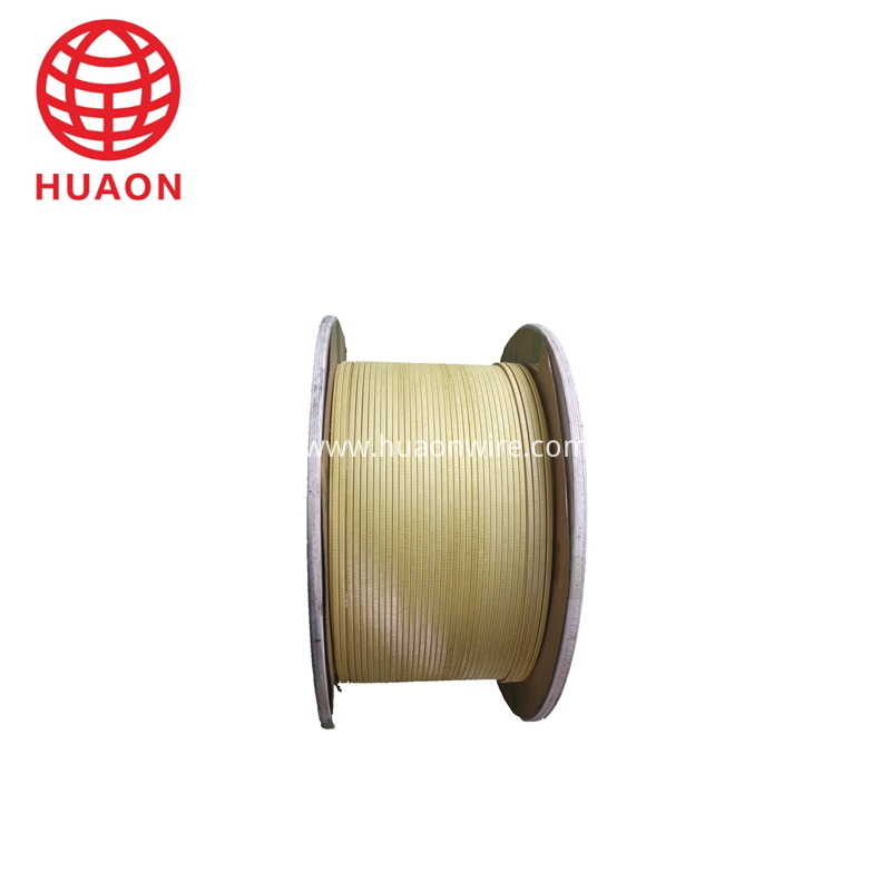 Glass Fiber Film Covered Flat Aluminium Wire