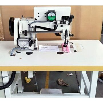 Double Needle Walking Foot Heavy Duty Thick Thread Ornamental Stitching Machine for Leather Upholstery