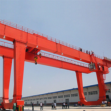 16 tons two hooks double girder gantry crane