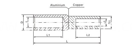 GTL copper-aluminium cable lug