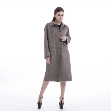 Cashmere overcoat with collar removable
