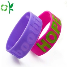 Dilated Silicone Bracelet Debossed Filled Fashion Wristbands