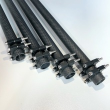 Carbon Fiber Tube with Customized Aluminum clamps