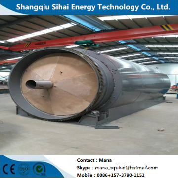 Extraction fuel oil from waste tire pyrolytic machine