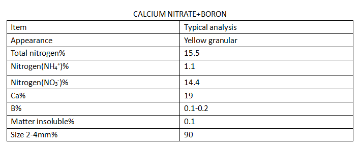 Calcium nitrate with boron fertilizer for crop price