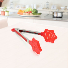 Red Christmas Tree Nylon Food Tong