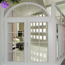 Lingyin Construction Materials Ltd America style Open outside aluminum crank casement window with arch top design