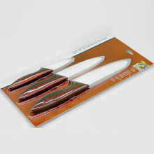 Unique Bargains 3 pieces ceramic kitchen knife set