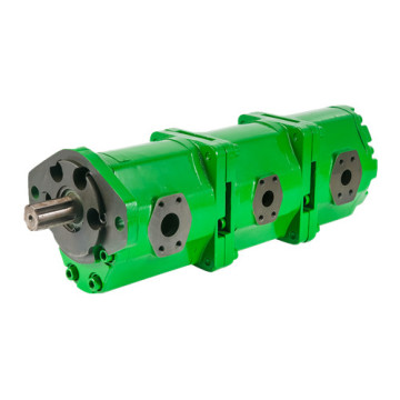 John Deere triple external gear pump