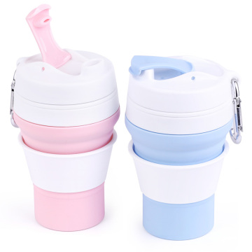Foldable Mug Custom Travel Coffee Mug Silicone Reusable High Quality With Lid
