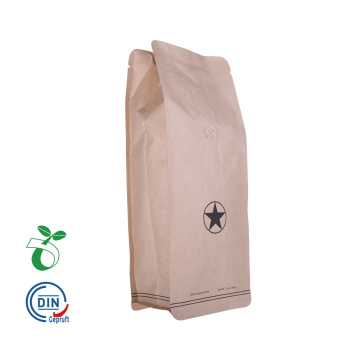 black coffee packaging bags foil 1kg  falt bottom custom printed with one way valve