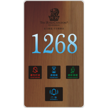 2018 electronic door number doorplate
