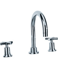 Double Handle Sink Brass Chrome Faucet