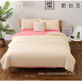 Polyester Brushed 4 Piece Solid Color Bed Sheet