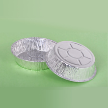 Disposable Wrinkle-wall Round Aluminum Foil Container