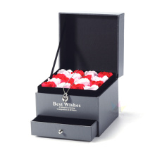 Small Empty Wedding Gift Flower Box with Drawer