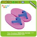 Purple Slippers Shaped Eraser ,custom made eraser