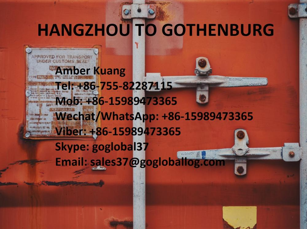 Zhejiang Hangzhou Sea Freight to Sweden Gothenburg
