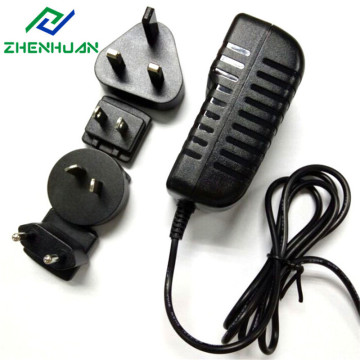 24W 24V Multiple Power Adapter with EU/US/UK/AU Plug