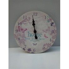 Hot Selling for for Home Decoration Wooden Clock Round Printing Wooden Clock Hnging supply to Tonga Factory