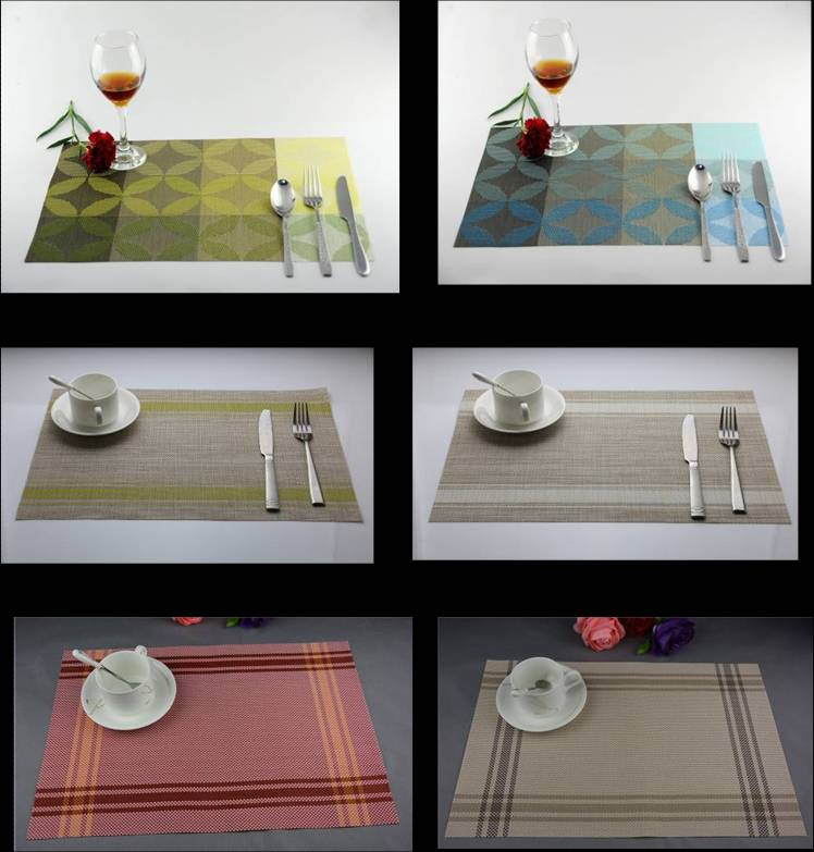 The new copper flower PVC eat mat decoration cushion332