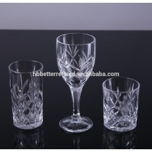 Engraved Crystal Drinking Glass Goblet And Tumbler