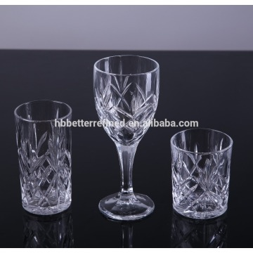 Best Quality for Mixed Drinkware Sets Engraved Crystal Drinking Glass Goblet And Tumbler export to South Africa Manufacturers