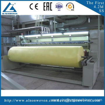 High efficiency AL-3200 S 3200mm nonwoven fabric making machine with low price