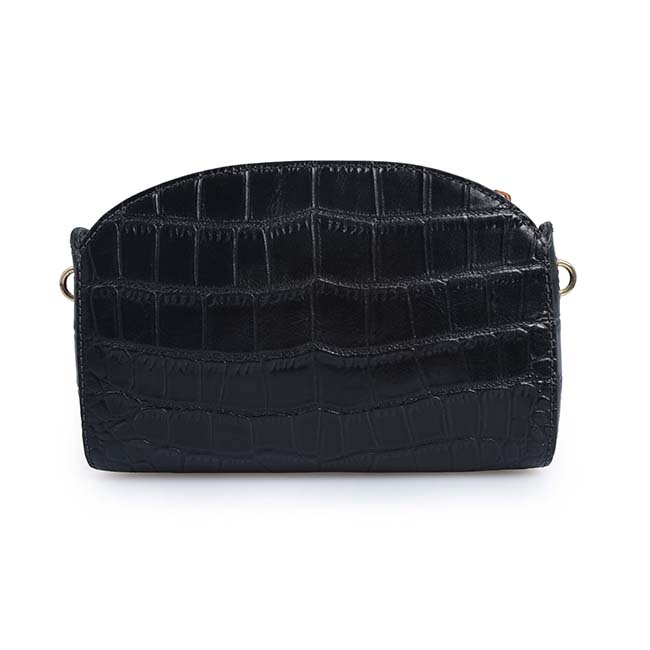 2019 Crocodile pattern real leather Saddle bag leather crossbody bag women