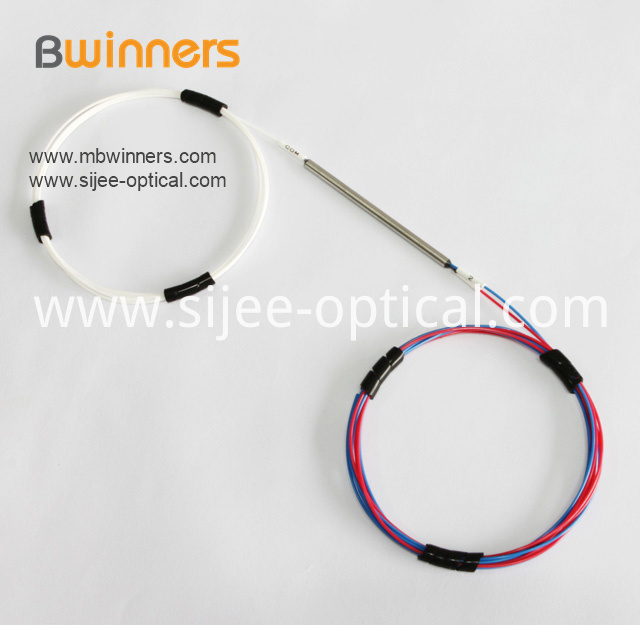 1 2 Optic Fiber Splitter With Steel Tube Singlemode Dual Window