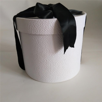 Eco-friendly Packaging Round Cardboard Box with Ribbon