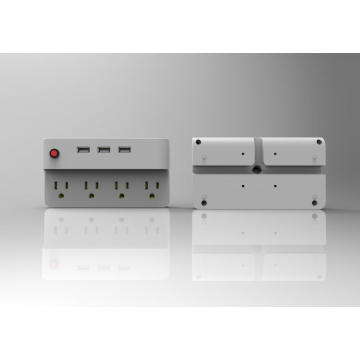 4 outlet and 3 USB table power strip