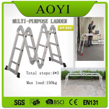 EN131 Aluminum material  3 step folding ladder