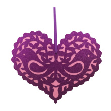 Valentine's day heart shape hanging wall sign