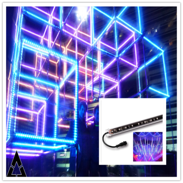 WS2811 LED RGB 3D Tube stage light