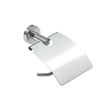 Stainless steel toilet paper holder with cover