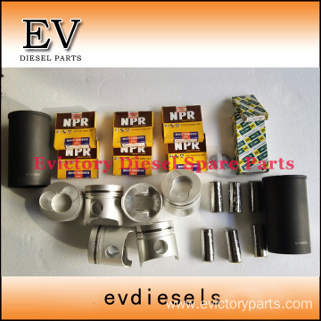 excavator P11C-T engine gasket bearing piston ring liner