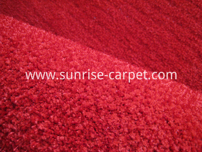 Microfiber with Polyester Carpet with Short Pile solid red