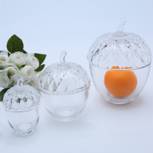 Wholesale High Transparency Glass Nut Shaped Candy Jars