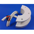 semicricle alumina ceramic precise machining parts