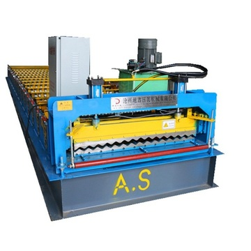 Corrugated roofing steel sheet roll forming machine