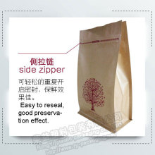 Resealable Brown Kraft Paper Zipper Packaging Bag
