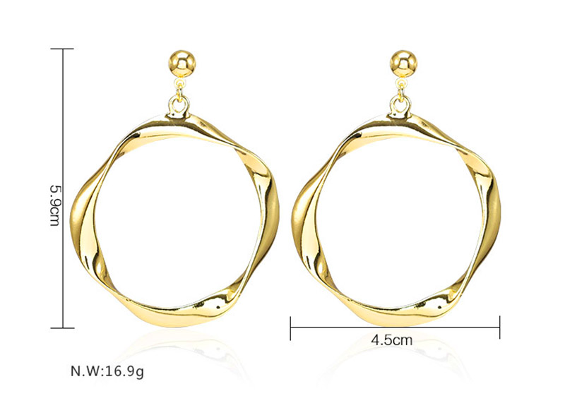 large twisted gold hoop earrings