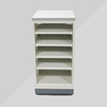 Movable Custom 4-Shelving Metal Olio Lubrificante Display Rack, Floor Merchandising Oil Display Rack