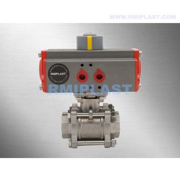 "Double Acting Pneumatic Ball Valve Stainless Steel 304 Size 2"" 2-1/2"" 3"" 4"""