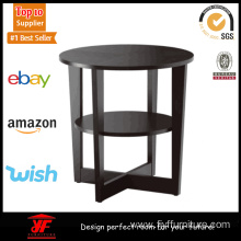 Top for Modern Coffee Table Small Dark Wood Round Coffee Table supply to Portugal Manufacturer