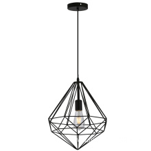 Geometric Iron Wire Hanging Pendant Lamp